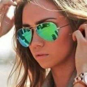 Accessories - oversized Mirrored Aviator Sunglasses